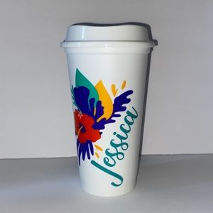 Starbucks Reusable Hot Cup Tropical Personalized